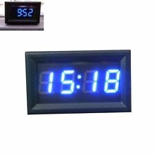 Auto Moto Accessorio 12V/24V Cruscotto Display a LED Orologio Digitale BU