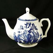 Royal Cuthbertson Blue Willow Swirl Teapot 4-5 Cup Tea Pot EXCLNT China Coffee