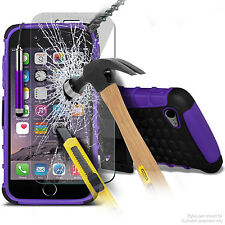 HEAVY DUTY TOUGH SHOCKPROOF CASE + TEMPERED GLASS PROTECTION for APPLE - 100%UK