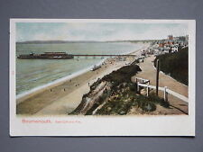 R&L Postcard: Bournemouth East Cliff & Pier Early Card Undivided Back, Peacock