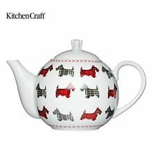 Kitchen Craft Chien Terrier Fin Porcelaine 4 Coupes Théière KCTPOT04