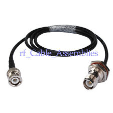 RP-TNC female to BNC male RF pigtail Cable RG58 50cm for Wireless