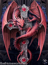 ANNE STOKES GOTHIC GUARDIAN DRAGON - 3D CULT MOVING PICTURE POSTER 300mm x 400mm