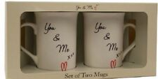 Lesser And Pavey Set Of Two Mugs You & Me LP33354