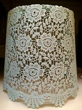 Vintage Shabby Chic Duck Egg Blue Floral Lace Ceiling Light Shade Pendant NEW