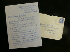 Oswald Short - Aviation Pioneer - 1949 Autograph Letter to Widow of Test Pilot