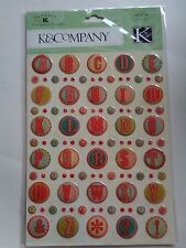 K & CO CLASSIC K BAILEY CIRCLE ALPHABET CLEARLY YOURS STICKERS BNIP