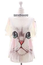 TP-04 Katze Gesicht Cat face süß Print kurzarm T-Shirt Lolita Harajuku Japan