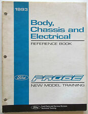 1993 Ford Body & Chassis & Electrical Reference Book Probe Model Model Training