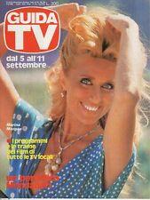 rivista GUIDA TV ANNO 1982 NUMERO 35 MARINA MORGAN