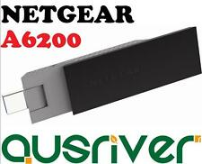 Netgear A6200 802.11ac 1.75Gbps Dual Band Wireless WiFi USB Dongle Adaptor WLAN