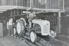 "8N Ford Tractor drive off Assembly Line 12X18"" Black & White Picture"