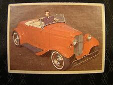 Hot Rod Magazine Card No 44 1965 Spec Sheet Red Convertible Dictionary Card