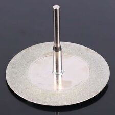 10pcs 50mm Diamond Cutting Discs & Drill Bit For Rotary Tool Dremel Glass Metal