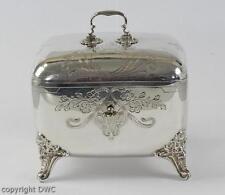 Zuckerdose Silberdose Dose mit Schlüssel aus 800 Silber um 1870 Antik Dose
