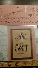 HEART OF THE COUNTRY WEDDING DAY CROSS STITCH  PATTERN FREE SHIPPING