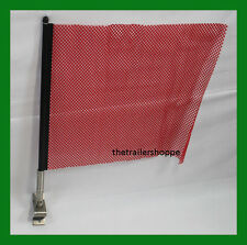 RED Quick Mount Flag 18x18 Jersey Oversize Load Wideload