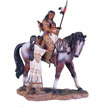 12 Inch Indian Family Native Collectible Figure American Statue Western Indio