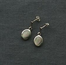 Superb quality 925 sterling silver very dark Abalone shell stud earring Gems tv
