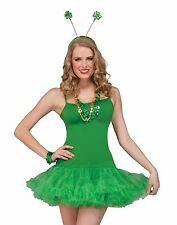 St Patricks Day Green Slip Tutu Dress Adult Womens Costume Standard Size NEW