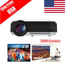 5000lumens 3D 1080P HD 1280*800 LED Digital Smart HDMI TV Home Theater Projector