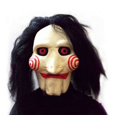 Popular Saw Movie Jigsaw Puppet Mask Halloween Full Mask Head Latex Creepy Scary