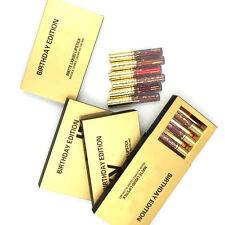 6 Pcs/set Gold Mini Sexy Makeup Matte Liquid Lipstick Waterproof Lip Gloss BIAU