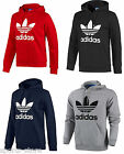 Adidas Originals Mens Trefoil Fleece Hooded Sweatshirt Hoodie Size S-XL