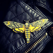 Deaths Head Hawkmoth Moth Silence of the Lambs Pin Brooch Gothic Rockabilly