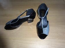 TAPPERS & POINTERS BLACK PATENT BALLROOM LATIN DANCE SHOES ADULT/GIRLS UK SIZE 5