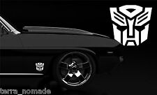 2 x AUTOBOT CAR STICKER  DECAL TRANSFORMERS VINYL FUNNY DUB VW JDM 10cm x 9.5cm