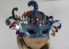 "Mardi Gras Mask Blue for 18"" American Girl Doll Clothes WIDEST SELECTION ONLINE!"