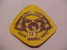 GALLUP & MCKINLEY COUNTY NEW MEXICO ANIMAL  POLICE PATCH SHOULDER SIZE UNUSED