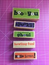 Halloween Rubber Stamp Lot By Studio G qty 5 New