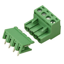 10pcs 2EDG 4Pin Plug-in Screw Terminal Block Connector 5.08mm Pitch Right Angle