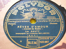 78 trs-rpm-Lys GAUTY - Reves d'amour- POLYDOR 522987