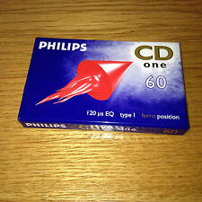 Vintage Recordable PHILIPS CASSETTE TAPE CD ONE - Factory Sealed FERRO POSITION