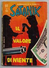 SATANIK  N. 64 IL VALORE DI NIENTE editoriale corno 1967