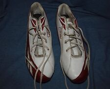 Reebok NFL Equipment Football Cleats Size 14 Shoes Red White