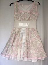 JONES & JONES TOPSHOP PINK & WHITE LIBERTY PRINT FLORAL PROM DRESS 10 US 6 EU 36