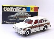 MADE IN JAPAN TOMY TOMICA NO 34 HONDA CIVIC COUNTRY DOORS OPEN 1/59 DIECAST CAR