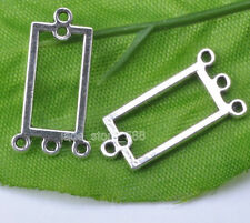 15pcs Tibetan silver rectangle charm Connectors Earring Findings Jewelry JA739