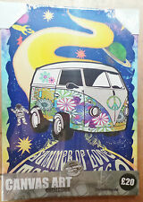 Joblot Canvas Wall Art Picture Woodstock Bus Trip Retro x 12 (RRP £240)