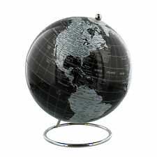 "Quality Black & Chrome 8"" Globe Executive Toy Christmas Gift Ideas for Him Her"