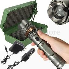 Tactical Zoomable 3000Lm XM-L T6 LED 18650 Flashlight Torch +2X Charger+Box Hunt