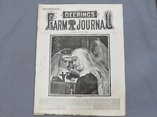 Vintage 1886 DEERING IHC Farm Journal Magazine 16 pages Binder Reaper IH Early!