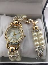 Belacci Women's   Quartz Classic Pearl Bracelet Mother of Pearl Watch  & Chain