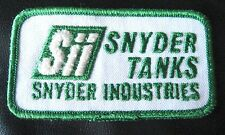 SNYDER INDUSTRIES EMBROIDERED SEW ON PATCH SNYDER TANKS SII TRUCK TRUCKING