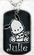 SANRIO POCHACCO - Dog tag Necklace/Key chain +FREE ENGRAVING