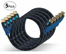 Aurum 5 Pack Ultra Series High Speed 10 Ft HDMI Cable with Ethernet Supports ARC